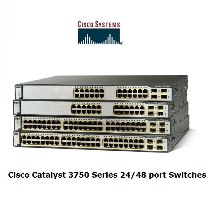 Cisco 3750 POE Series 24/48 port POE Switches
