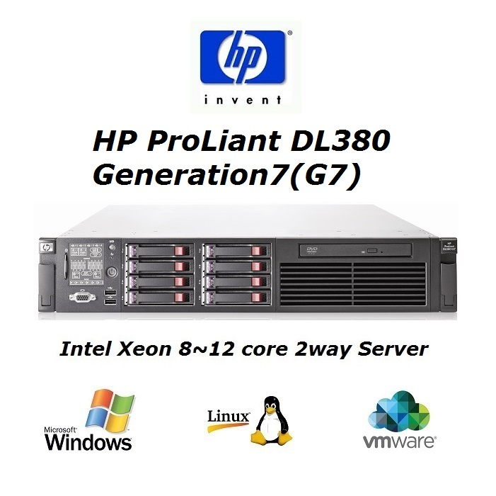 HP DL380G7 xeon L5640 12core 16Gb 2u rack server