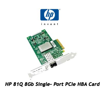 HP 81Q 8Gb Single- Port PCIe HBA Card